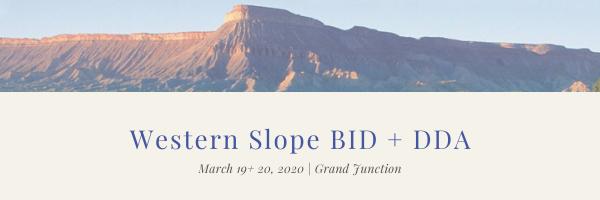 Western Slope BID and DDA